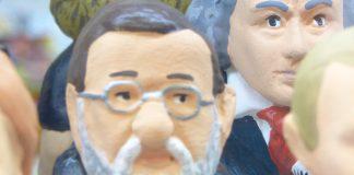 Rajoy caganer en un escaparate de Barcelona. PROPRONews