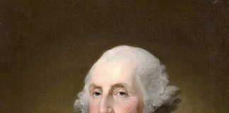 George Washington, maestro masón, retratado por Gilbert Stuart Williamstown