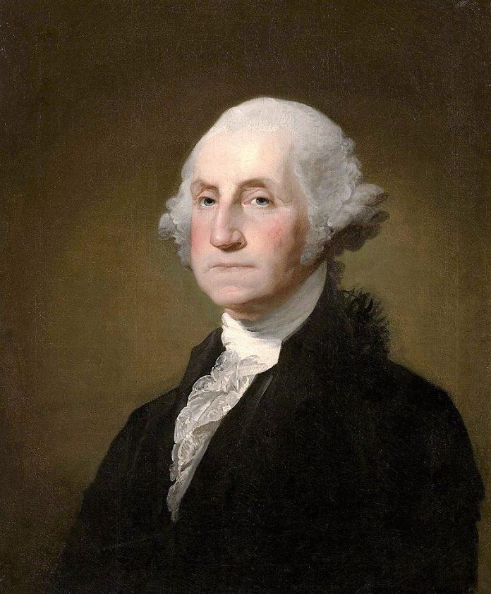 George Washington, maestro masón, retratado por Gilbert Stuart Williamstown