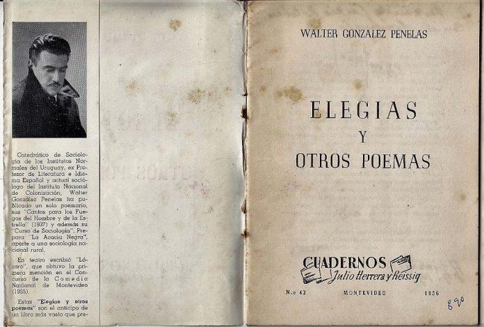Walter, en la solapa de su segundo libro de poemas.