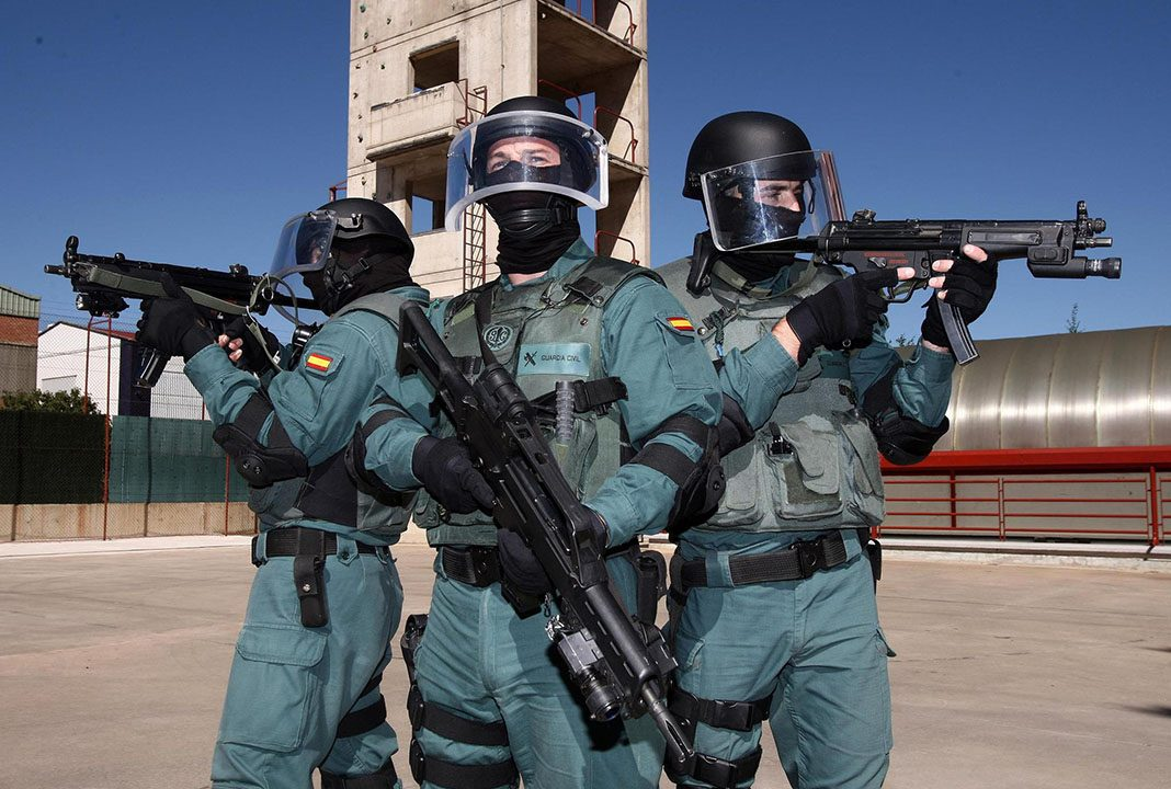 El Grupo de Acción Rápida de la Guardia Civil en un entrenamiento. Mº DEL INTERIOR