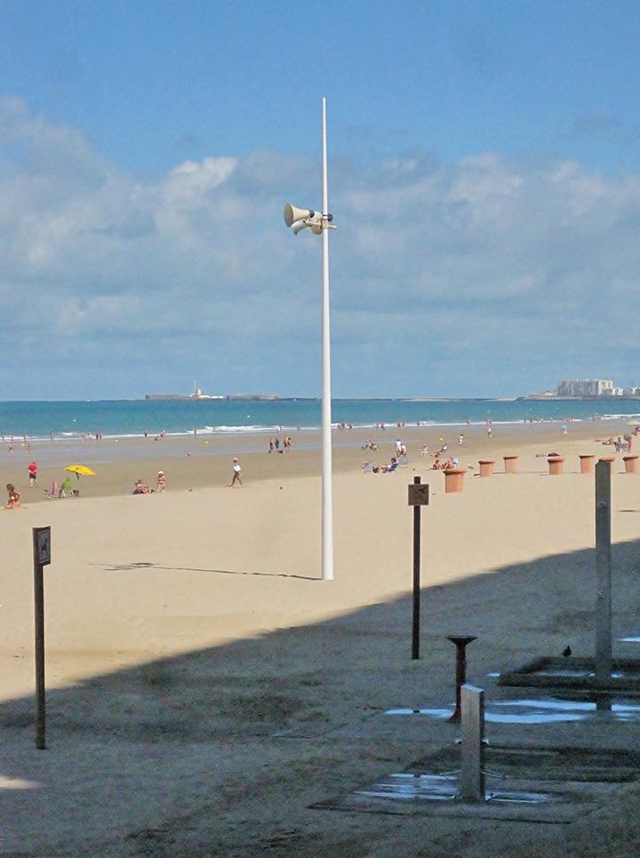 Megafonía de playa en Cádiz. PROPRONews