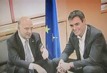 Pedro Sánchez con Pierre Moscovici. PORPRONews