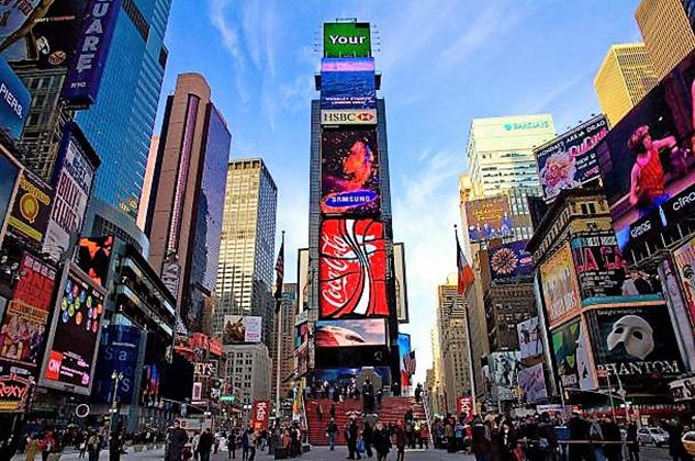 Times Square. En EE.UU. tenemos el mayor número de lectores en el extranjero. NYPOST.COM