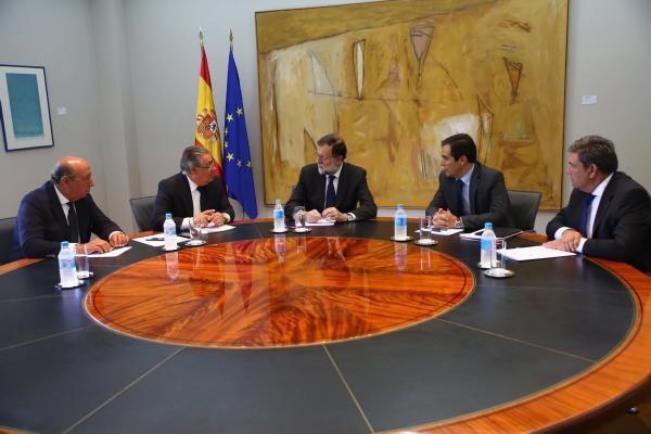 La cúpula de Interior con el presidente del Gobierno. M. INTERIOR