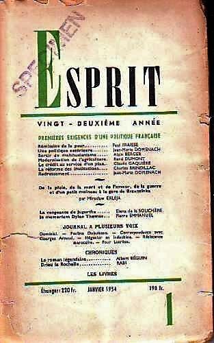 Esprit, a la cabeza del pensamiento europeo