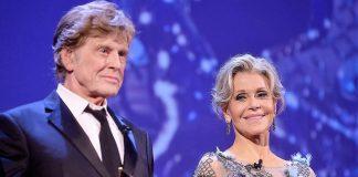 Robert Redford y Jane Fonda, 81 y 80 años, hoy. ANDINA