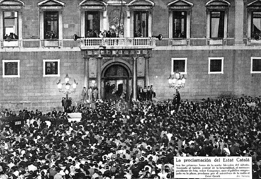 6 de octubre de 1934. Proclamación del Estat Catalá. MUNDO GRÁFICO