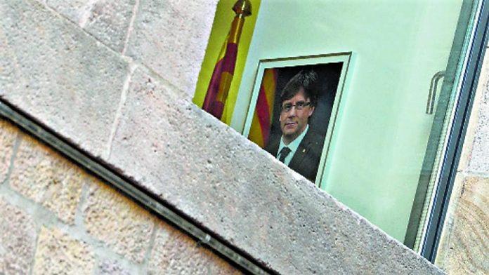 Retrato oficial de Puigdemont en una dependencia de la Generalitat. PÁGINA 12