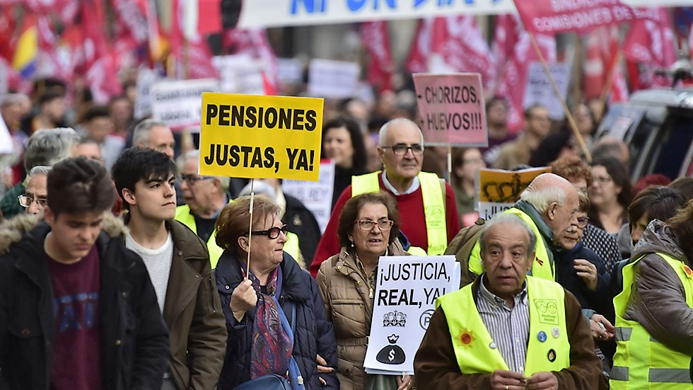 Pensionistas en lucha por sus derechos. RTVE