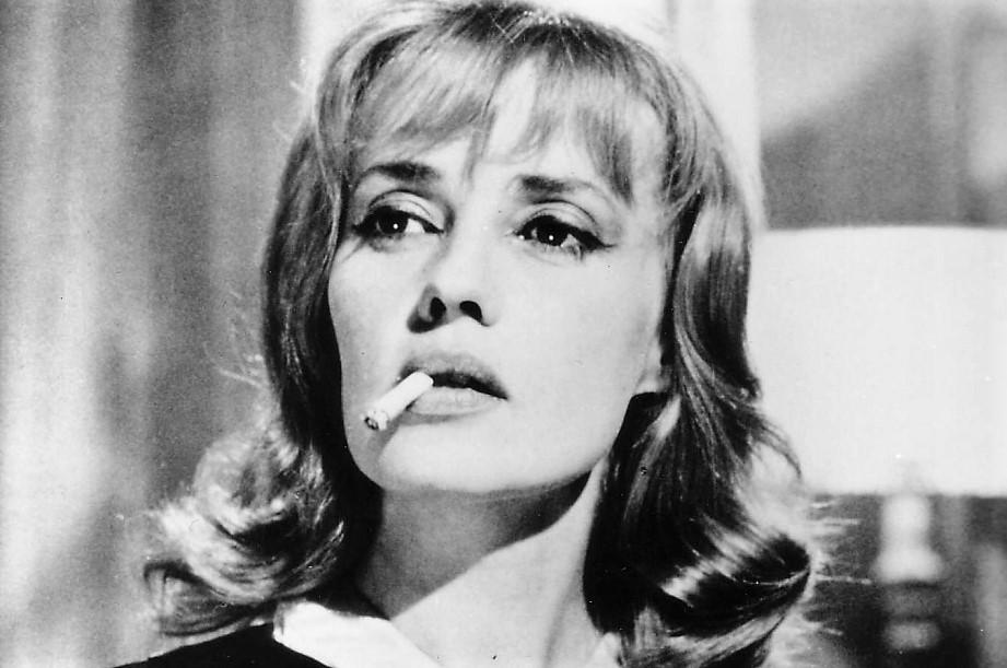 La Moreau, en uno de los incontables papeles que interpretó en el cine.