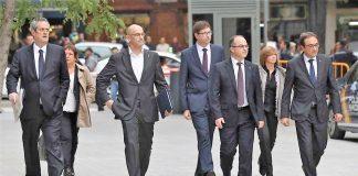 Miembros del Govern, antes de ingresar en prisión. RTVE