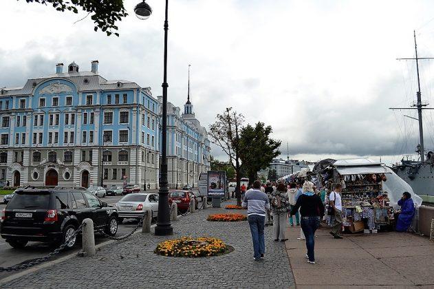 Una vista del bello entorno de San Petersburgo donde está anclado el buque. J.M. PAGADOR