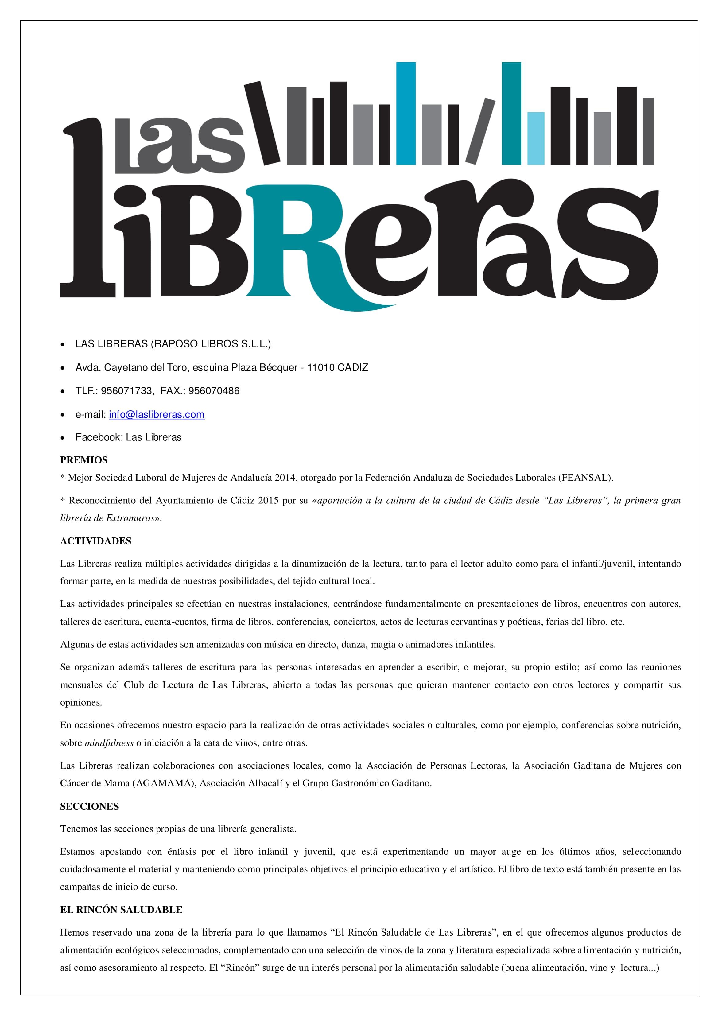 LAS LIBRERAS