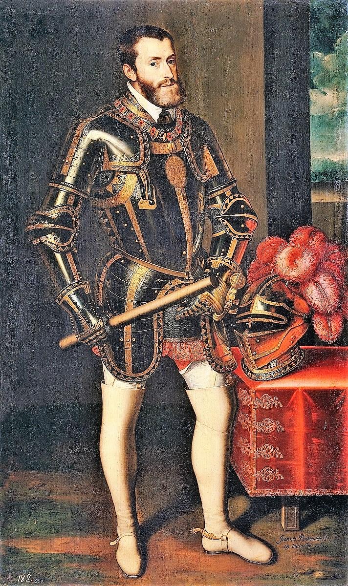 Carlos V, por Tiziano. El emperador fue un desagradecido con Cortés.