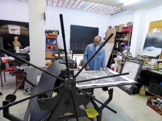 Rodrigo Tavera es también un extraordinario grabador. PROPRONEWS