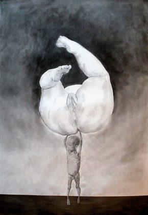 Atlas. Lápiz y pastel-papel 100x70. 2011