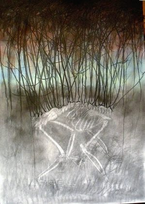 Bosque 2. Pigmento-papel 100x70. 2012
