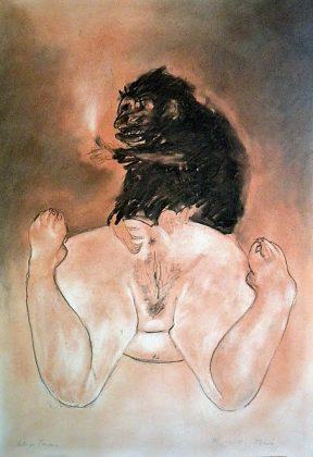 Diógenes. Pigmento y carbocillo-papel 100x70. 2012