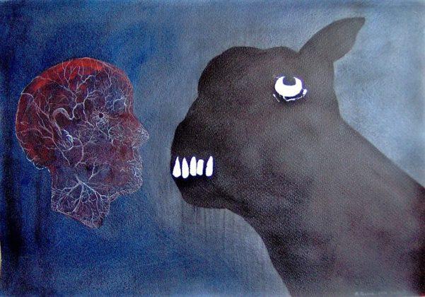 Dialogo. Acrilico-papel 50x70. 2008
