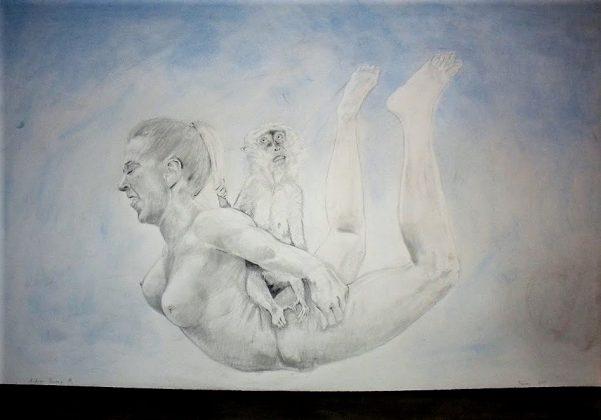 El profeta. Carboncillo, grafito y pastel-papel 70x100. 2011