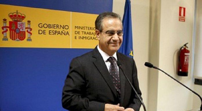 Celestino Corbacho en su época de ministro de Trabajo. RTVE