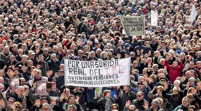 Pensionistas en pie de guerra. RTVE