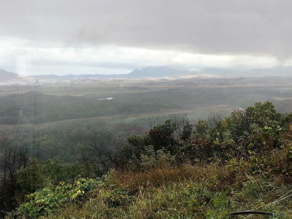 Vista de Corea del Norte, desde un puesto de observación en la frontera con el Sur.
