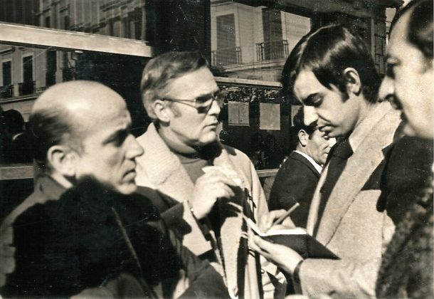 En 1972, en sus comienzos en el diario HOY, Gregorio es el segundo por la derecha.