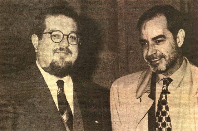 En 1996, con el también poeta y periodista, Santiago Castelo.