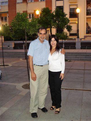 En 2008, en Mérida, con Daniela Bouret, directora del Teatro Nacional de Montevideo.