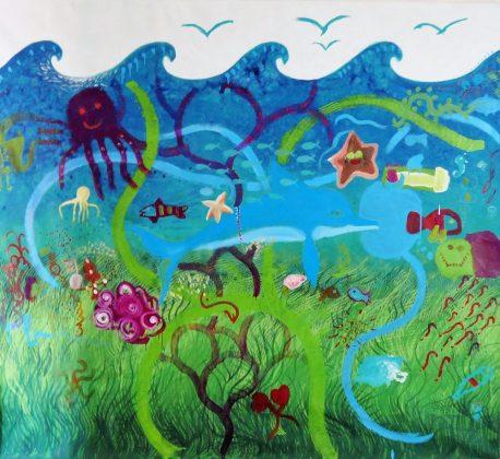 Detalle del mural.