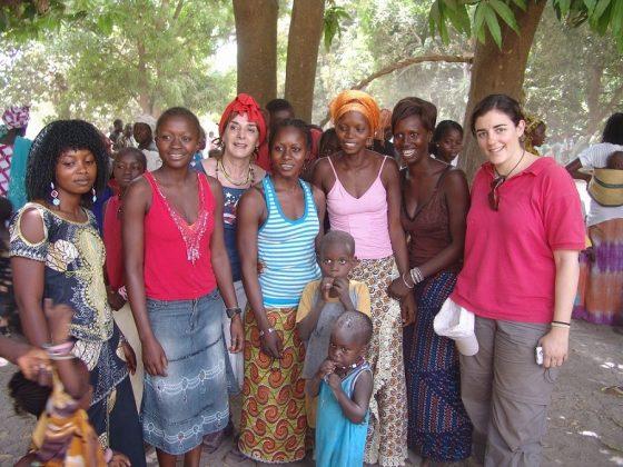 Elisa Blázquez, en Senegal.