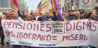 Los pensionistas siguen en pie de guerra. RTVE