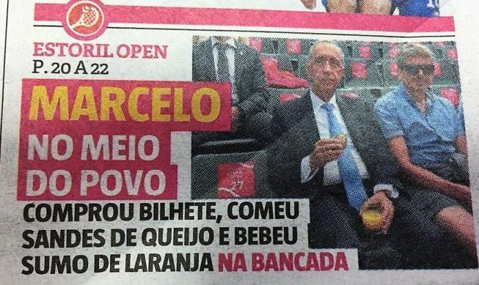 El presidente de Portugal en primera página. Detalle de la portada de Sport.