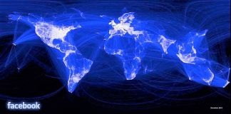 Mapamundi de las relaciones en facebook. PROPRONews es leido y compartido en todo el mundo. FACEBOOK