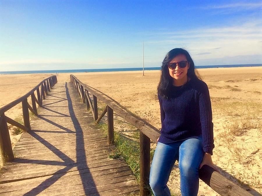 En la playa de Los Bateles de su querido Conil de la Frontera.