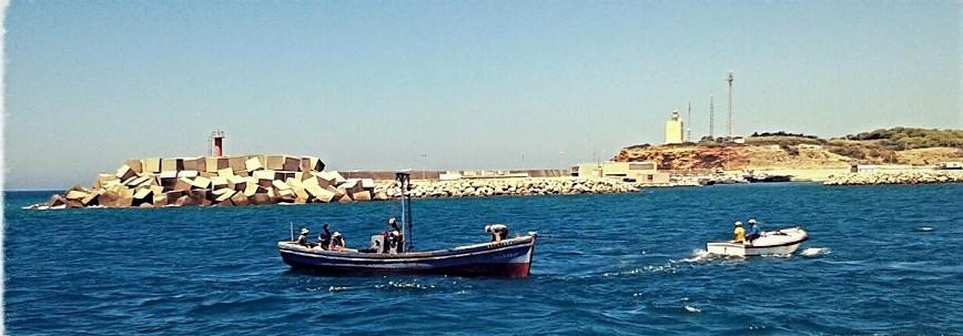 Barco de la flota de la almadraba.