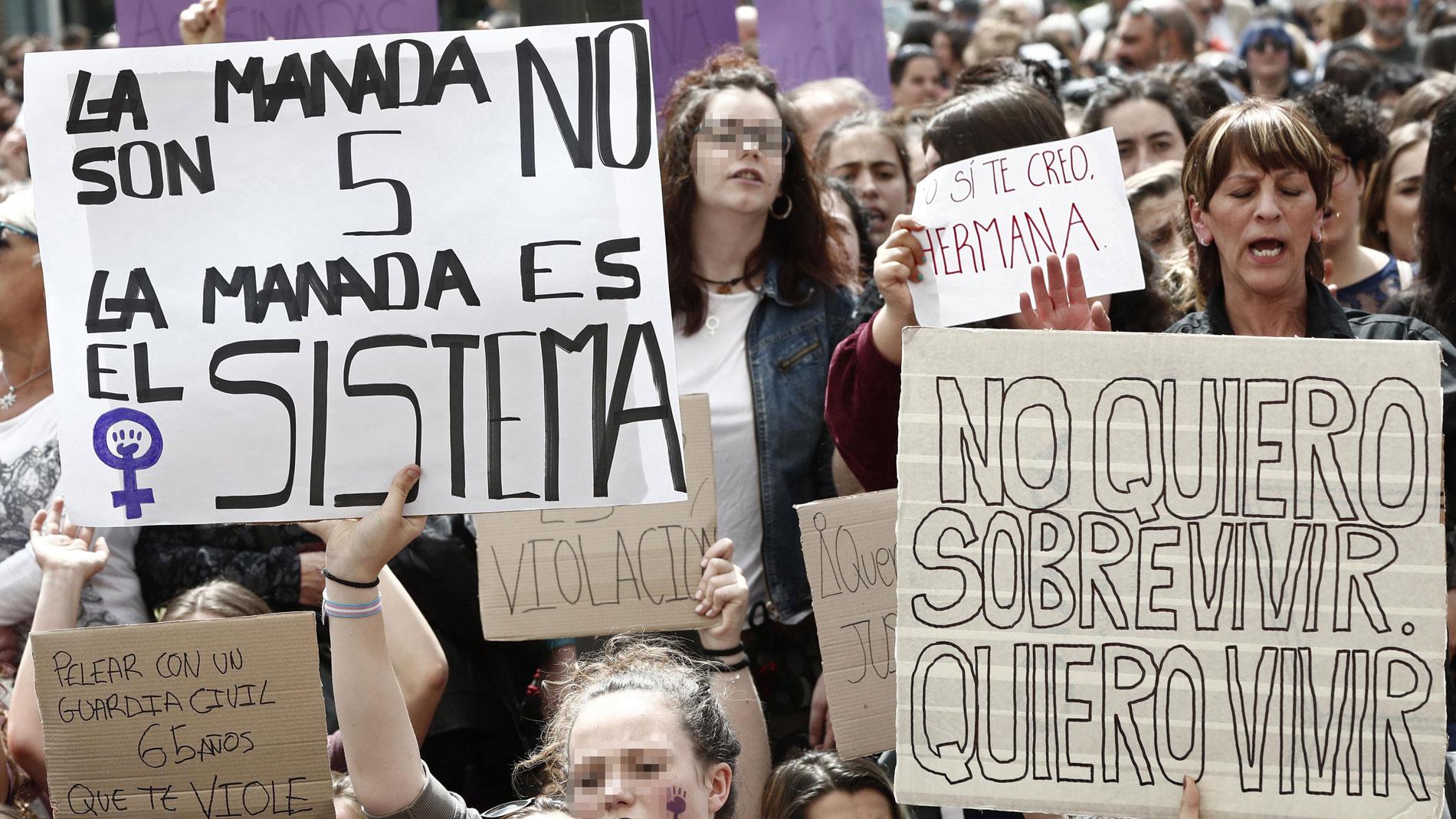 Protestas contra los jueces que absolvieron a La Manada de violación. RTVE