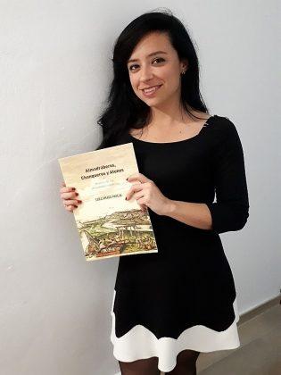 La autora, en la presentación de su libro, Almadraberos, Chanqueros y Atunes.