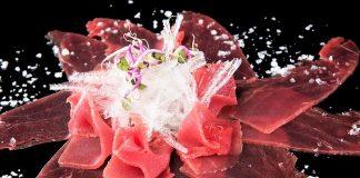 Carpaccio de atún de almadraba del Restaurante Francisco La Fontanilla.