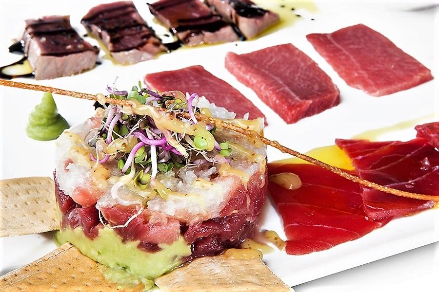 Selección de crudos de atún rojo de almadraba de Francisco La Fontanilla.