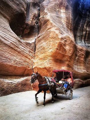 Desfiladero de entrada a Petra.