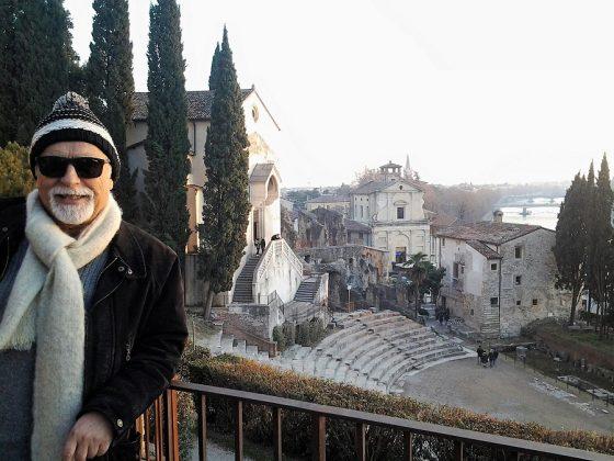En el teatro romano de Verona (Italia).