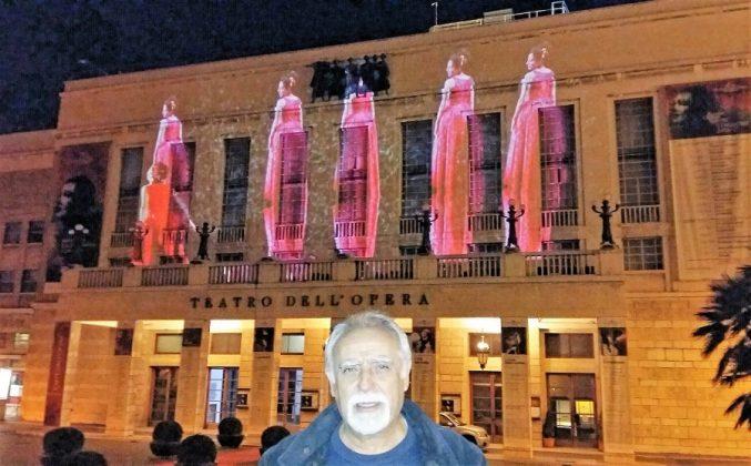 En el Teatro de la Ópera de Roma.