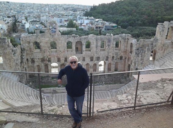 En el teatro Odeón herodes Ático (Atenas).