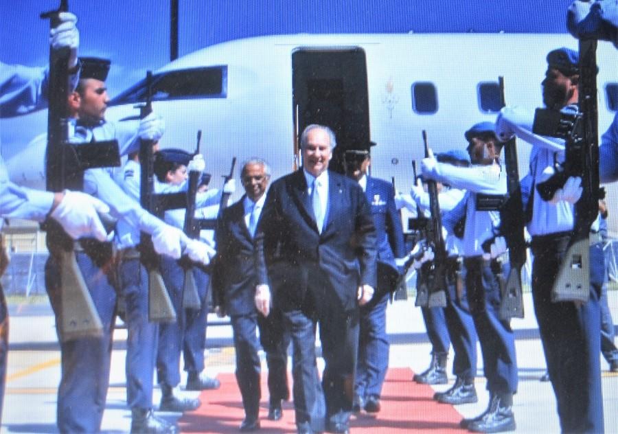 Aga Khan chega a Lisboa no início da sua visita ao Jubileu de Diamante em Portugal. AKDN