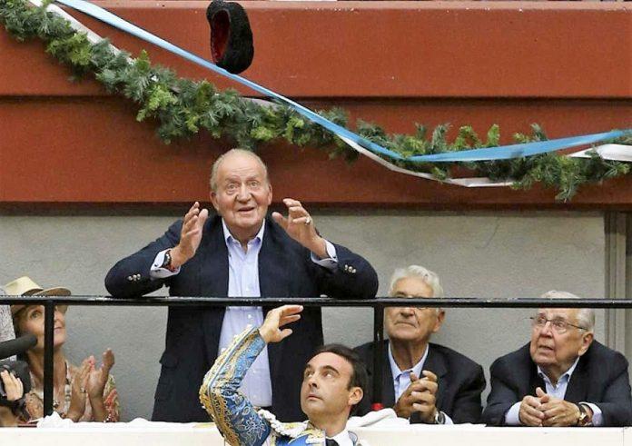 El Rey Emérito en una de las corridas a las que suele asistir. RTVE