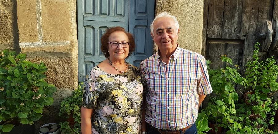 Gonzalo, con su mujer, María Inés, su gran apoyo de proyectos y de vida.