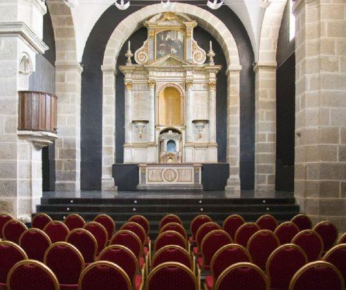 La antigua capilla, convertida en salón de celebraciones.